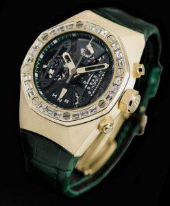 Suisses montres de duplication montrent la brillance avec des diamants.