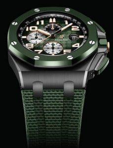 Répliques montres en vente sont jolies avec une couleur verte.