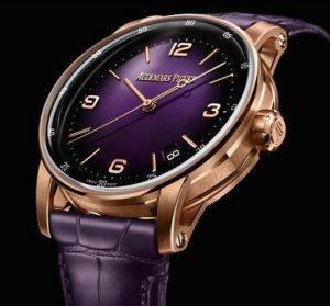 Suisses répliques montres sont serties d'aiguilles en or rose.