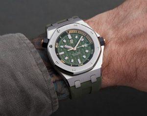 Répliques montres en ligne démontrent le style chic avec la couleur verte.